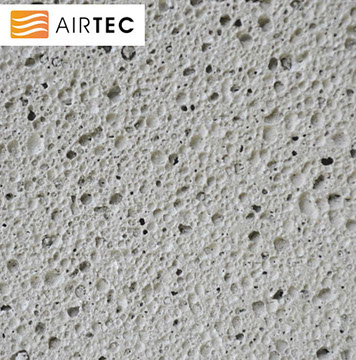 A photograph to show an example of the texture of Thomas Armstrong's Airtec Aerated Concrete Block